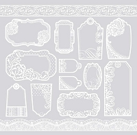 Hot off the Press 'Color Me' papers  - Lacy Tags and Border Papers