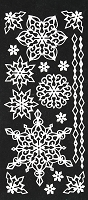 Hot off the Press-Dazzles Stickers-Stacked Snowflakes White
