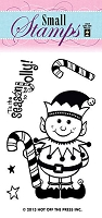 Hot off the Press-Mini Clear Stamp-Happy Elf