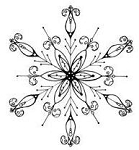 Impression Obsession Cling Mounted Rubber Stamp - Snowflake 2