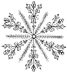 Impression Obsession Cling Mounted Rubber Stamp - Holly Snowflake