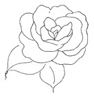 Impression Obsession Cling Mounted Rubber Stamp - Lovely Rose