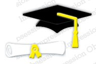 Impression Obsession - Die - Mortarboard & Scroll