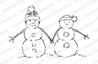 Impression Obsession - Cling Mounted Rubber Stamp - By Alesa Baker - Merry Snow Couple