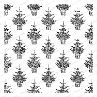 Impression Obsession - Cling Mounted Rubber Stamp - Cover A Card - Christmas Tree