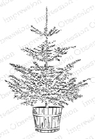 Impression Obsession - Cling Mounted Rubber Stamp - By Kalani Allread - Christmas Tree