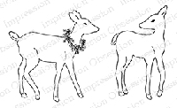 Impression Obsession - Cling Mounted Rubber Stamp - By Alesa Baker - Woodland Deer