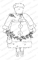 Impression Obsession - Cling Mounted Rubber Stamp - By Alesa Baker - Mrs. Claus Prim
