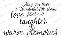 Impression Obsession - Cling Mounted Rubber Stamp - By Alesa Baker - Warm Memories