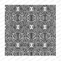 Impression Obsession - Cling Mounted Rubber Stamp - Cover A Card - Crochet