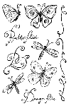 Impression Obsession Clear Stamp - Butterflies and Dragon flies