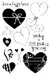Impression Obsession Clear Stamp - Happy Hearts