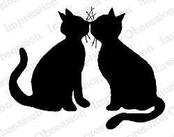 Impression Obsession - Cling Mounted Rubber Stamp - By Gail Green - Kissing Kitties