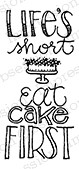 Impression Obsession - Cling Mounted Rubber Stamp - By Lindsay Ostrom - Eat Cake First