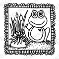 Impression Obsession - Cling Mounted Rubber Stamp - By Lindsay Ostrom - Gypsy Froggie