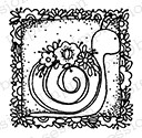 Impression Obsession - Cling Mounted Rubber Stamp - By Lindsay Ostrom - Sami Snail