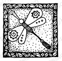 Impression Obsession - Cling Mounted Rubber Stamp - By Lindsay Ostrom - Square Dragonfly