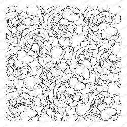 Impression Obsession - Cling Mounted Rubber Stamp - Cover A Card - Layered Roses