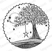 Impression Obsession - Cling Mounted Rubber Stamp - By Lindsay Ostrom - Star Tree