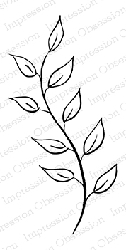Impression Obsession - Cling Mounted Rubber Stamp - By Tara Caldwell - Breezy Leaf Stem