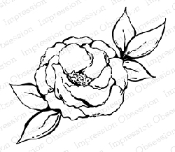 Impression Obsession - Cling Mounted Rubber Stamp - By Tara Caldwell - Vintage Flower
