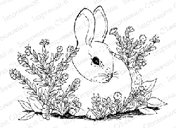 Impression Obsession - Cling Mounted Rubber Stamp - By Tara Caldwell - Garden Bunny