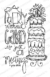 Impression Obsession - Cling Mounted Rubber Stamp - By Lindsay Ostrom - Without Cake