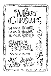 Impression Obsession Clear Stamp - Christmas Words