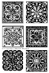 Impression Obsession Clear Stamp - Large Ornate Squares