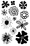 Impression Obsession Clear Stamp - Flower Power
