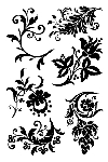 Impression Obsession Clear Stamp - Solid Florals