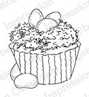 Impression Obsession - Cling Mounted Rubber Stamp - By Alesa Baker - Jelly Bean Cupcake