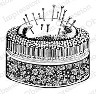 Impression Obsession - Cling Mounted Rubber Stamp - By Dina Kowal - Pin Cushion