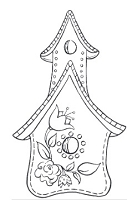 Impression Obsession Cling Mounted Rubber Stamp by Tara Caldwell - Birdhouse 2
