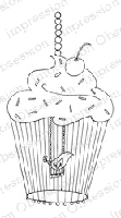 Impression Obsession - Cling Mounted Rubber Stamp - By Leigh Hannan - Cupcake Birdcage