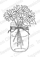 Impression Obsession - Cling Mounted Rubber Stamp - By Alesa Baker - Cheery Daisy Bouquet
