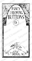 Impression Obsession - Cling Mounted Rubber Stamp - By Dina Kowal - Button Card