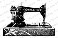 Impression Obsession - Cling Mounted Rubber Stamp - By Dina Kowal - Singer