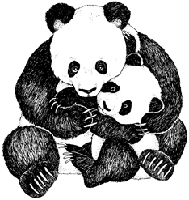 Impression Obsession - Cling Stamp - Panda Hug - By Gail Green