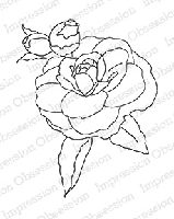 Impression Obsession - Cling Mounted Rubber Stamp - By Alesa Baker - Camellia Budding