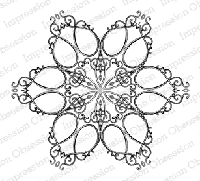Impression Obsession - Cling Mounted Rubber Stamp - By Dina Kowal - Vintage Scissor Snowflake