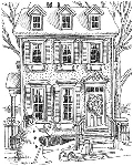 Impression Obsession Cling Mounted Rubber Stamp - Winter House