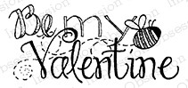 Impression Obsession - Cling Mounted Rubber Stamp - By Lindsay Ostrom - Bee My Valentine