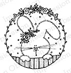 Impression Obsession - Cling Mounted Rubber Stamp - By Lindsay Ostrom - Bunny Circle