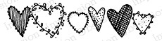Impression Obsession - Cling Mounted Rubber Stamp - By Lindsay Ostrom - Dancing Hearts