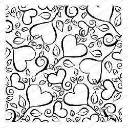 Impression Obsession - Cling Mounted Rubber Stamp - Cover A Card - Spring Hearts