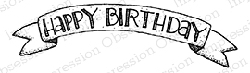 Impression Obsession - Cling Mounted Rubber Stamp - By Lindsay Ostrom - Birthday Banner