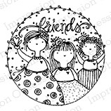 Impression Obsession - Cling Mounted Rubber Stamp - By Lindsay Ostrom - Circle of Friends