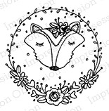 Impression Obsession - Cling Mounted Rubber Stamp - By Lindsay Ostrom - Circle Foxie