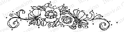 Impression Obsession - Cling Mounted Rubber Stamp - By Lindsay Ostrom - Flower Spray